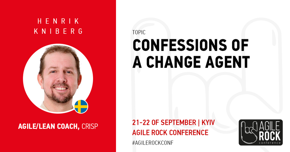 Henrik Kniberg is coming down to rock the stage at #agilerockconf!